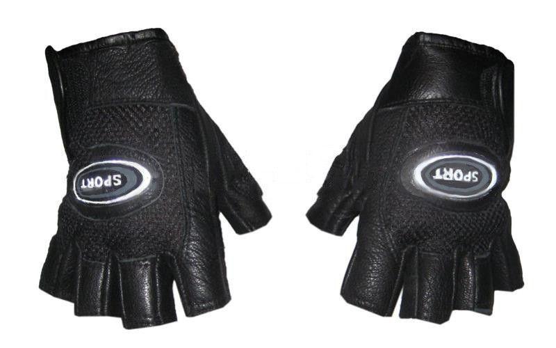 Перчатки спортивные кожаные