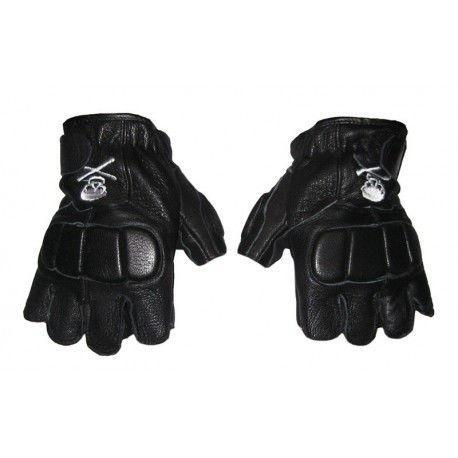 Перчатки спортивные кожаные (р-р L,XL) обрезанные