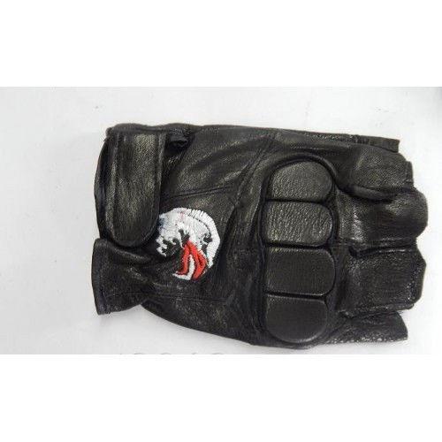 Перчатки спортивные кожа, полиэстер(р-р L,XL)