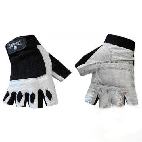 """Перчатки спортивные кожаные """"ZELART"""" бело-черные"""