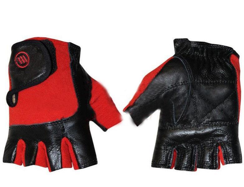 """Перчатки спортивные кожаные """"ZELART"""" черно-красные"""