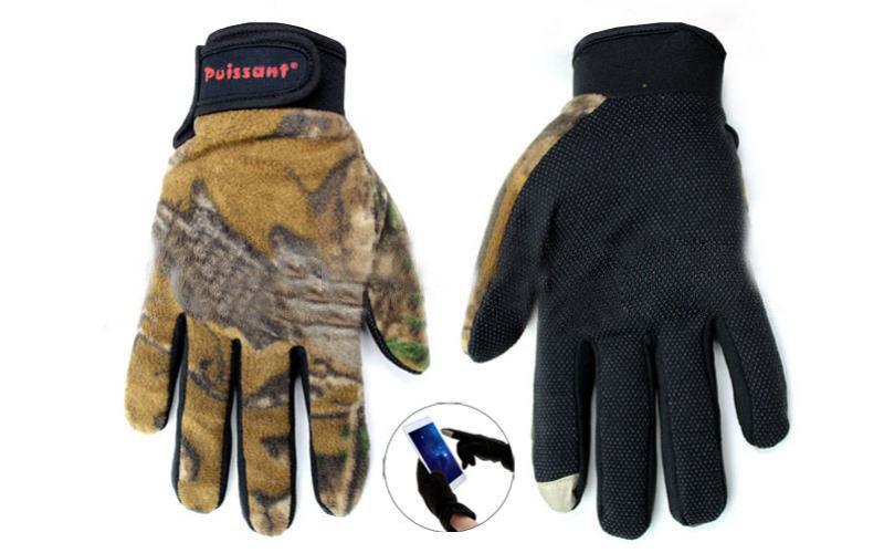 Перчатки теплые для рыбалки флисовые размер-L