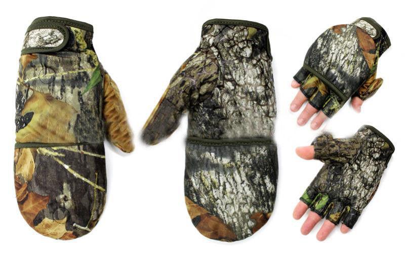 Перчатки-варежки флисовые для рыбалки