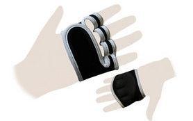 """Перчатки (накладки) для поднятия веса """"ZELART"""" пальцы- обрезанные"""