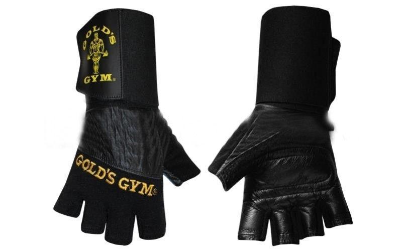 """Перчатки тяжелоатлет. """"GOLDS GYM"""" с напульсником"""