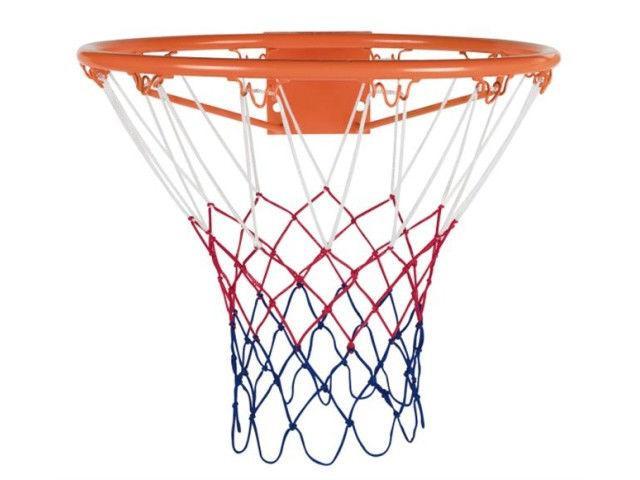 Сетка баскетбольная (полипропилен,13 петель, яч. р-р 6x6см,цвет бело-красно-синий, комл-2шт)