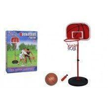 Стойка баскетбольная (мобильная) детская (измен. высоты, max h-133 см, сталь, пластик, винил)