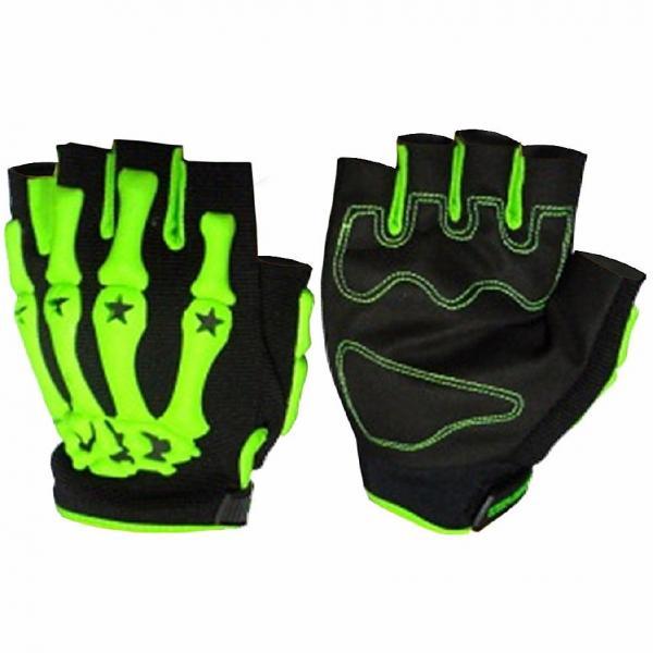 Вело-мото перчатки Скелет (PL, PVC, открытые пальцы, р-р M-XXL цвета в ассортименте)