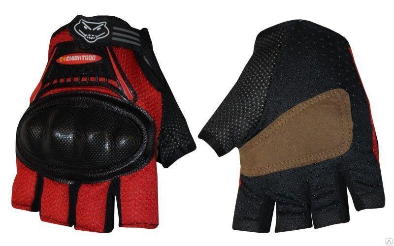 Вело-мото перчатки текстильные (протектор-усилен, р-р M-XL)