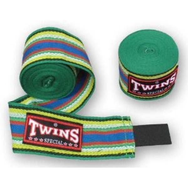 Бинты боксерские (2шт) Х-б TWINS CH-2 (l-5м, черный, синий зеленый, красный)