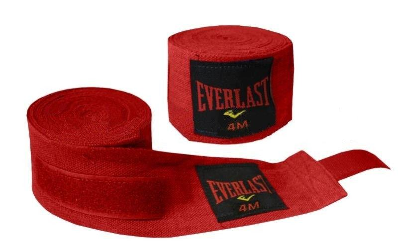 Бинты боксерские (2шт) Эластан + Х-б ELAST BO-3729-3(R) (l-3м, красный)