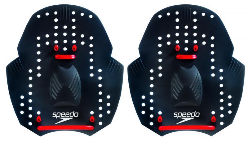 Лопатки кистевые для плавания SPEEDO 8027610006 POWER PADDLE (TPR, силикон, р-р S-L, серый)