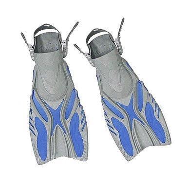 Ласты с открытой пяткой (пяточный ремень) DORFIN PL-449 (р-р S-M(38-41) - L-XL(42-45) желтый, синий, черный)