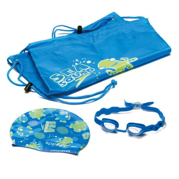 Набор для плавания детский: очки, шапочка, сумка SPEEDO 8069510309 SQUARD POOL (ТPR,силикон,латекс)