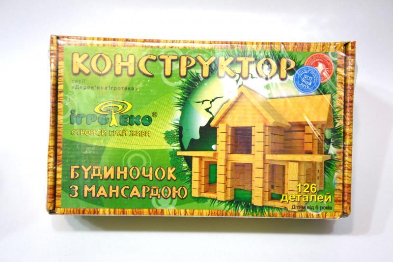 """Конструктор детский """"Домик с мансардой"""""""