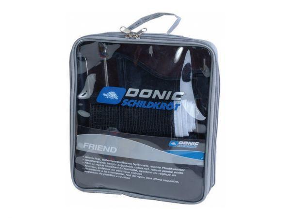 Сетка для настольного тенниса с винтовым креплением DONIC МТ-808313 (металл, NY, PVC чехол)