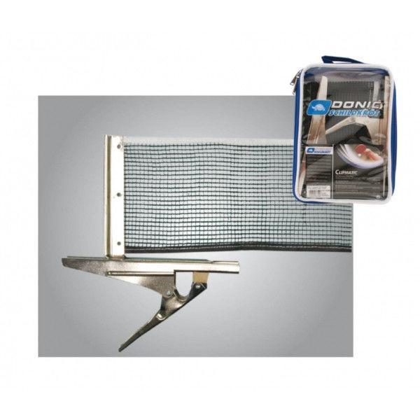 Сетка для настольного тенниса с клипсовым креплением DONIC МТ-808335 (металл, NY, PVC чехол)