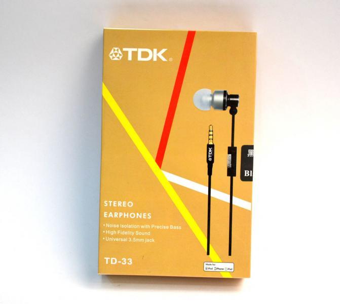 Наушники вакуумные TDK TD-33