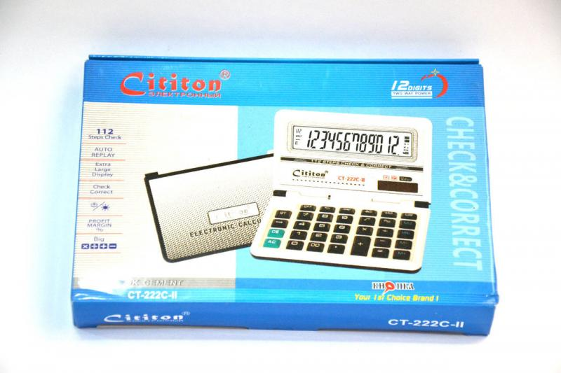 Калькулятор настольный Cititon CT-222C-II