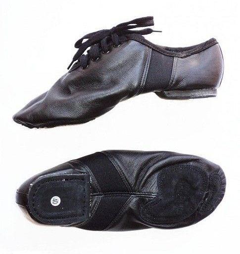 Джазовки для танца черные кожаные