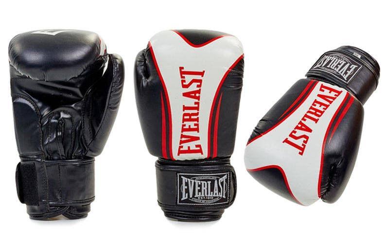 Перчатки боксерские на липучке EVERLAST FIGHT-STAR (р-р 10-12oz, черный)
