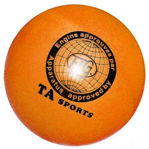 """Мяч для художественной гимнастики """"TA Sport"""" Диаметр 15 см оранжевый"""