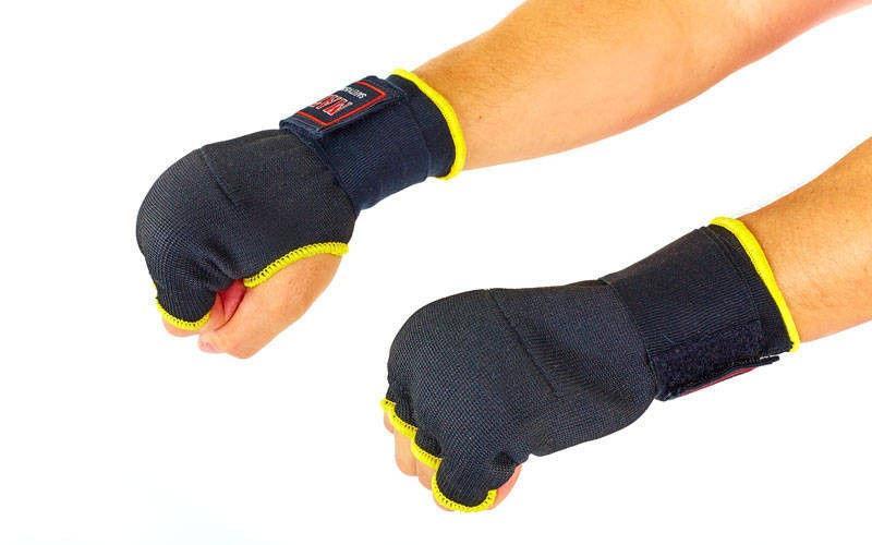 Перчатки-бинты внутренние Полиэстер MATSA  (р-р S-XL, черный)