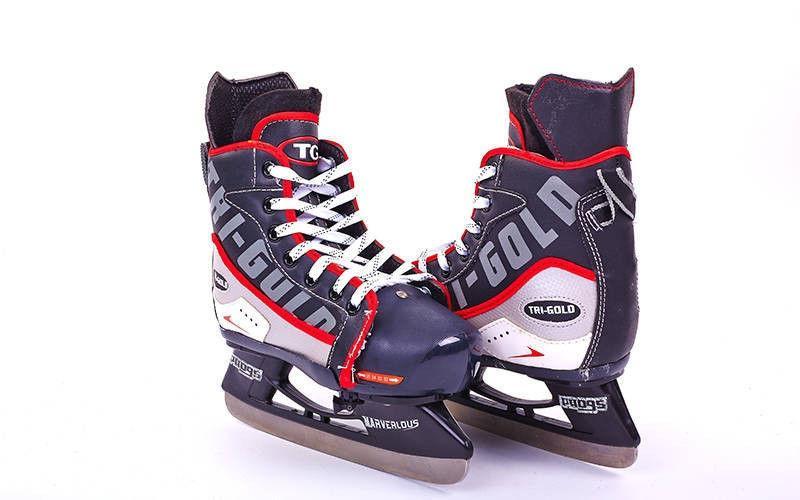 Коньки раздвижные детские хоккейные PVC(32-35)
