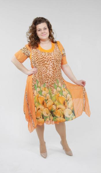 Двойка (платье + сарафан) LZ 5808