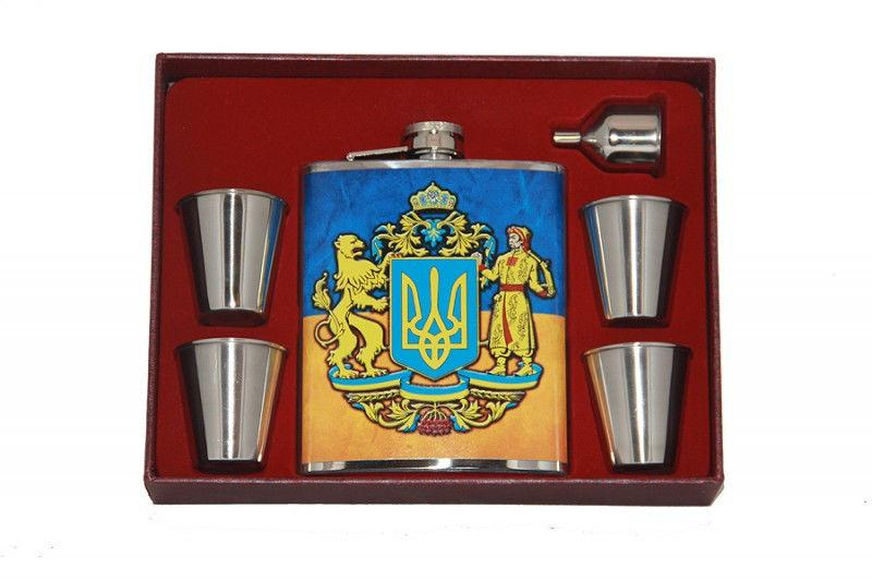 Набор с большой флягой Украина Герб большой