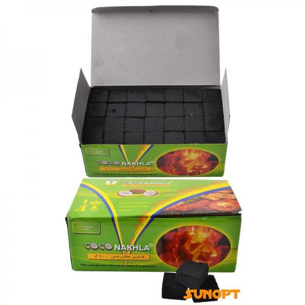 Уголь для кальяна кокосовый COCO NAKHLA 1кг (112кубиков)