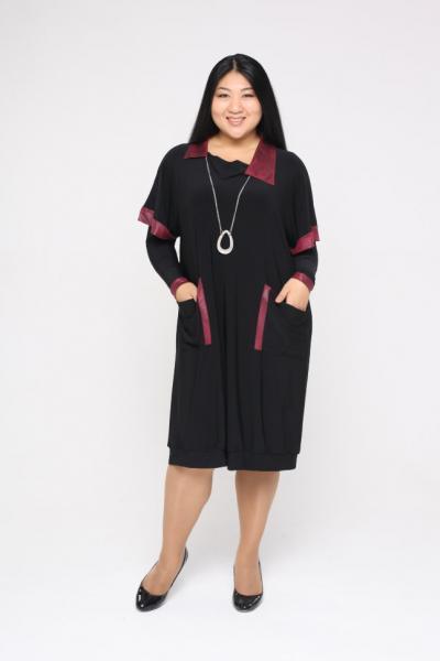 Платье-туника с кулоном и рукавами DP 2283