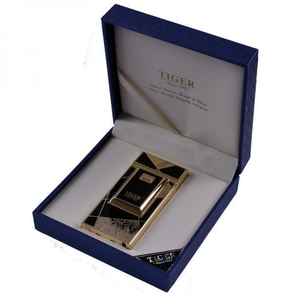 Электроимпульсная USB зажигалка TIGER №4676