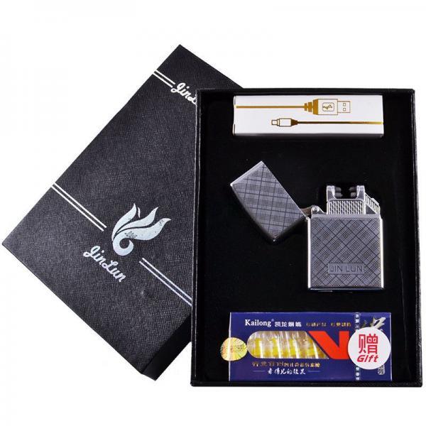 Электроимпульсная USB зажигалка JIN LUN №4674