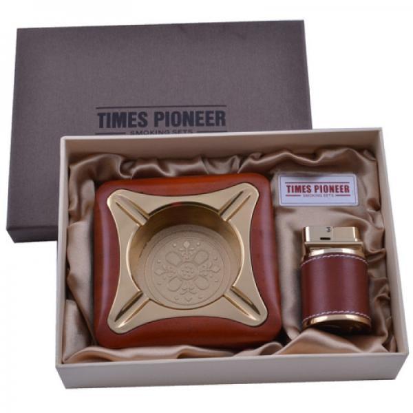 Подарочный набор Pioneer 2в1 пепельница и зажигалка №3622  Купить