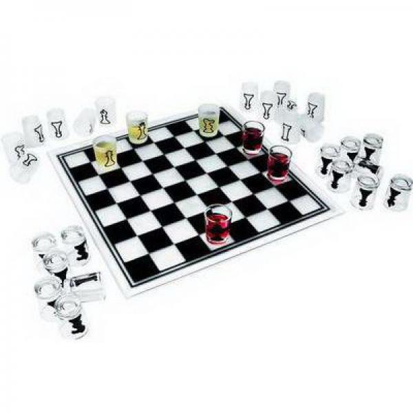Алко Шахматы-рюмки (стекло) №086м