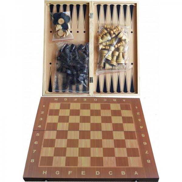 Набор 3в1 Нарды,Шахматы,Шашки W7725