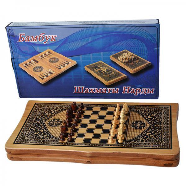 Набор игр 2 в 1 Шахматы и Нарды В4825