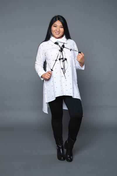 Рубашка-туника с кулоном YB 2113BB