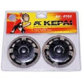 Колеса для роликов (2шт) KEPAI  (колесо PU светящ., р-р 70*24мм, без подшипников)