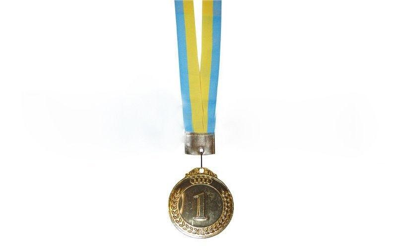 Медаль спортивная d-5 см,место 1-золото, 2-серебро, 3-бронза