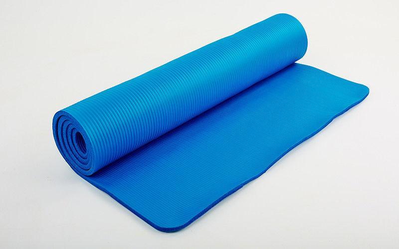 Коврик для фитнеса, каремат NBR 10мм с фиксирующей резинкой