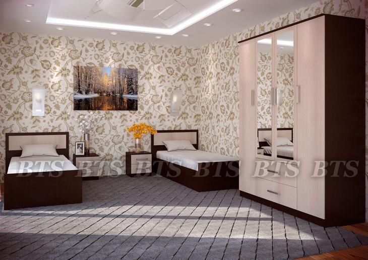 Фото Мебель для спальни Модульный спальный гарнитур Фиеста (БТС)