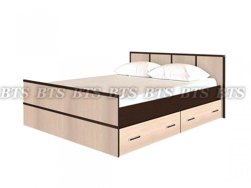 Фото Кровати Сакура кровать с ящиками 1,6 м (БТС)