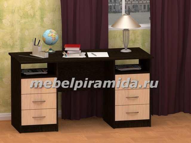 Фото Столы компьютерные и письменные Стол двухтумбовый Фронда-2 (Пирамида)