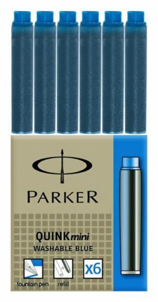 Чернильный мини-патрон Parker, черный, синий
