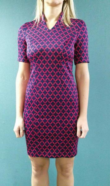 Платье Клео, красный принт