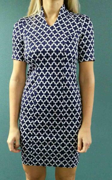Платье Клео, синий принт