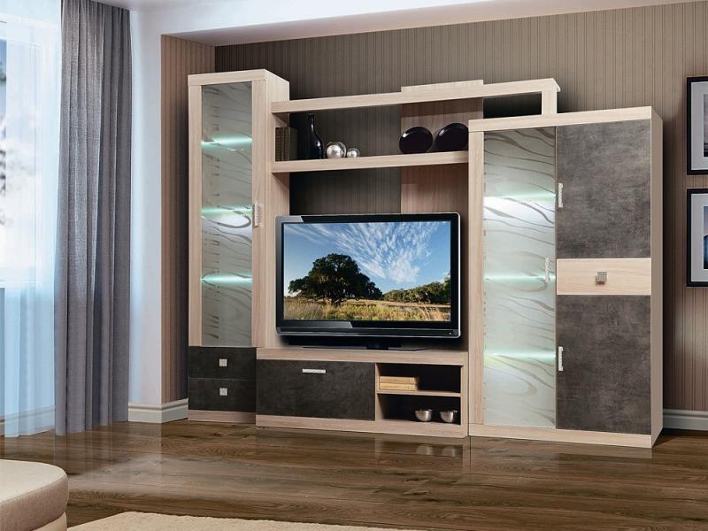 Фото Стенки и мебель для гостиной  Набор мебели Браво-1(Олмеко)