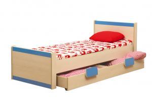 Кровать одинарная Лайф-4 голубая (Олмеко)